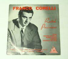 """Franco Corelli Recital Pucciniano Cetra Records LPV 45021 10"""" Classical Opera"""