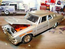 """100% HOT WHEELS """"DICK LANDY"""" 1963 PLYMOUTH MAX WEDGE 426 LIMITED EDITION 1/64"""