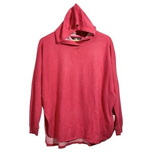 The North Face Womens Oversized Sweater Lightweight Hooded Pink Terry Size Small