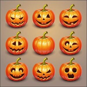 Ambiente Paper Napkins, Pack of 20, 3-ply Lunch Size Halloween Pumpkins