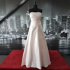 Designer  Sequinned Gown with Train (Pink-Size 12) Wedding etc, Tag £700