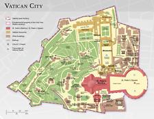 POSTER A3-Mappa Dettagliata della Città del Vaticano (foto Chiesa Bibbia)