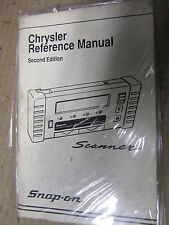 Snap On SCANNER USER MANUAL chrysler reference manual 2nd edition