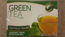 Premium Green Tea Bags 100 ct teabags   great hot or iced! antioxidant