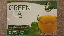 Premium Green Tea Bags 100 ct teabags   great hot or iced! antioxidant