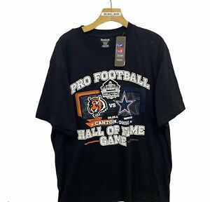 2010 NFl Pro Football Hall Of Fame Game Bengals Cowboys Graphic Shirt Xl Black