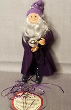 Byers Choice Kindles Merlin Halloween Bendable Ornament Figure Dark Star Pants