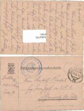 87481;Feldpost 1916 Infanterie Reg. 1 Kaiser FP 72