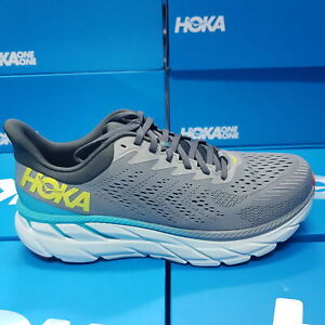 New Hoka One One Clifton 7 1110508/WDDS Grey Running Shoes For Men's