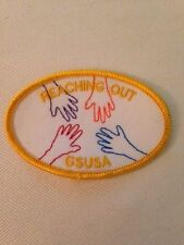 Girl Scout REACHING OUT hands patch - MINT!