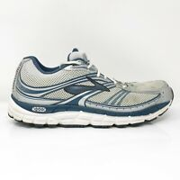 Brooks Mens Addiction 10 1101001D114 Gray Silver Running Shoes Lace Up Size 12 D