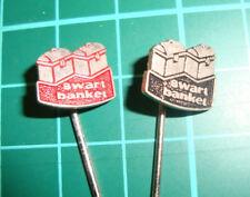 Swart banket stick pin badge vtg 60s anstecknadel speldje