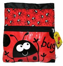 Promo Bugzz Kids Red Ladybird Bug School Kit Bag Childrens Swimming Gym Bags