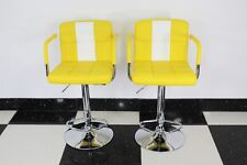 American Diner Retro Style Chair Furniture Kitchen Yellow x 2