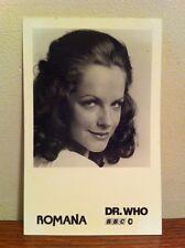 Dr Who Official BBC  MARY TAMM As Romana Cast Card , POSTCARD 1978 XxxRare !!