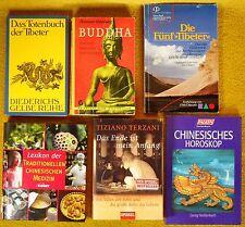 6 x Bücher - chinesische Esoterik - Buddha Tibeter Medizin Horoskop Terzani