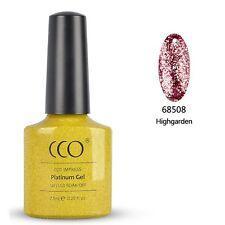 CCO UV LED Nail GEL Polish Varnish Soak off Platinum Range 24 Colours Highgarden