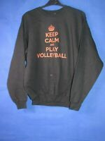 vtg 90s 00s  keep calm volleyball medium jogging sports sweatshirt jumper