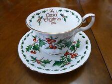 A Cup Of Christmas Tea Bone China Cup & Saucer 1992