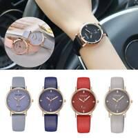 Women's Starry Sky Watch Diamond Casual Quartz Analog Leather Band Wrist Watch