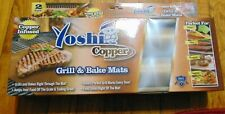 Yoshi Copper Grill Bake Mat Reusable Grilling As Seen On TV Non-Stick Pad 2pk