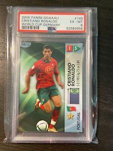 2006 Cristiano Ronaldo Panini Goaaal! World Cup Germany PSA 6 #140 Man United