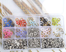 inBox 10 Colour 9.5mm 150 Metal Prong Ring Snap Fasteners Press Studs Dummy Clip