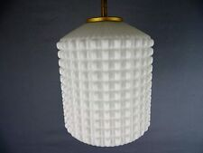 Suspension Design Scandinave Lampe Vintage 60's Verre Ice Cube