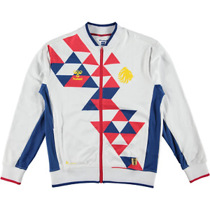 Hummel Great Britain Rugby League Zip Track Jacket White Red Blue