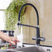 Küchenarmatur ausziehbar schwarz schwenkbarer Wasserhahn mit Hohem AUSLAUF