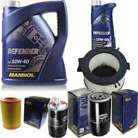 Ölwechsel 6L MANNOL Defender 10W-40 + SCT Filter Kit Inspektionspaket 10753341