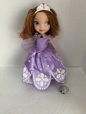 2012 Mattel Disney Sofia the First Talking Light Necklace Doll & Clover No Shoes