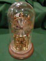 Vintage AUG SCHATZ 49 Germany Domed Anniversary Clock Repair/Parts