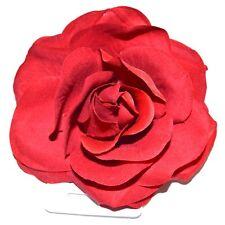 NUOVO 10cm Crimson Red in Tessuto Bordeaux Rose Fiore Forchetta per capelli Clip Fashion da donna