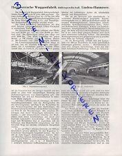 LINDEN-HANNOVER, Werbung 1911, Hannoversche Waggonfabrik AG