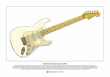 David Gilmour's Fender Stratocaster 0001 Limited Edition Fine Art Print A3 size