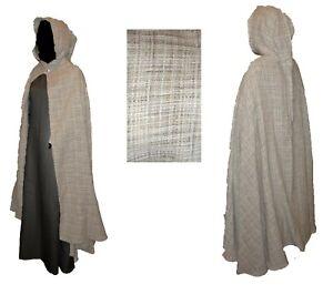 Mittelalter Umhang Wolle Baumwolle braun keltisch schottisch LARP Mantel Cape