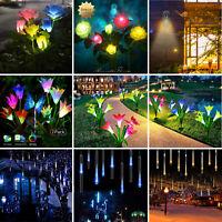 Outdoor Solar Lights Motion Sensor Wall Light Waterproof Garden Yard Lamp Flower