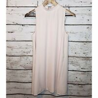 Everly Sleeveless Blouse Tunic Womens Small Light Pink Blush Lined High Neck