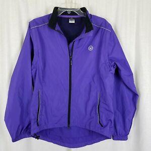 CANARI Convertible Boulder Cycling Jacket Vest Mens XL Purple Zip Off Sleeves