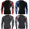 Men's Cycling Base Layer Sports Underwear Long Sleeves Compression Tight T-shirt