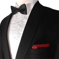 Seven Unlimited Satin Trim Shawl Lapel Wool Tux With Matching Pants and Bowtie