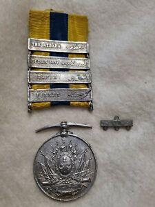 Victorian Khedives Sudan 1897 campaign medal 4 bar Atbara Hafir Firket repro