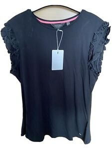 Ted Baker Frill Sleeve T Shirt Size 12/ 3 BNWT