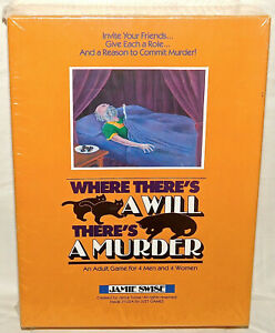 Where There's A Will There's A Murder Adult Game Factory Sealed #8308 New