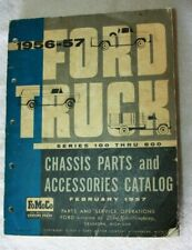 Original 1956-57 Ford Truck Chassis Parts and Accessories Catalog