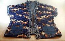 VTG 80's Jordache - Plus Size 2X - 3X - Women's Western Denim Horse Vest, Jacket