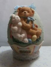 """CHERISHED TEDDIE """" EASTER EGG - DATED 2003 """" 110448  MINT IN BOX"""