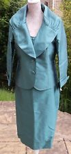 Gold by Michael H Aqua Silk Outfit UK14 Wedding Races Mother of Bride Occasion