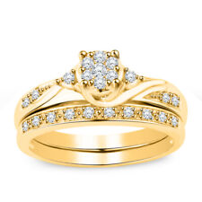 Round Cut 2.00 Ct Diamond Women's Bridal Engagement Ring Set 14k Yellow Gold Fn